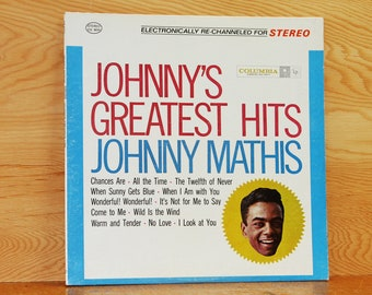 Johnny Mathis - Greatest Hits - Columbia Records CS-8634 - Vintage 33 1/3 LP Record - 1962
