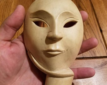 """Hand-Carved Wood Mask from Bali, Indonesia! Wall Art decor! Wood Carving 6"""" (B3)"""