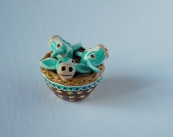 Blue Cow Pie Folk Art sculpture, Strangely Cute