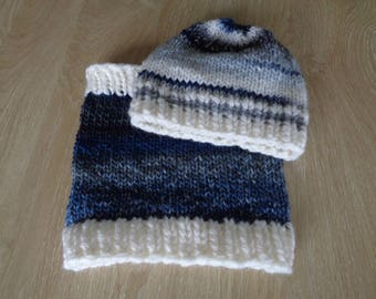 Wool Hat and snood boys 5 to 7 years