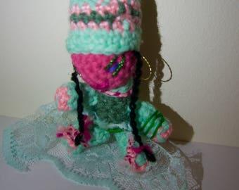 Unique cute handmade crochet amigurumi doll