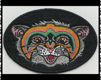 Ultimate Warrior iron on embroidered wrestler cat patch
