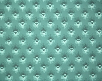 1940s Vintage Wallpaper by the Yard - Dark Green Button Tuft Wallpaper