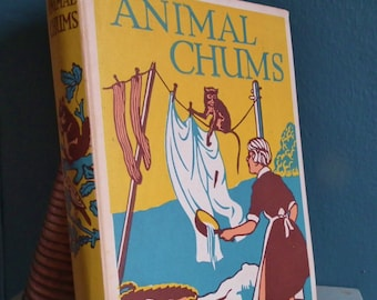 Animal Chums True Tales About Four-Footed Friends Antique Book c. 1910s 1920s Jean McIntosh UK Vintage Edwardian Illustrated Children's Book
