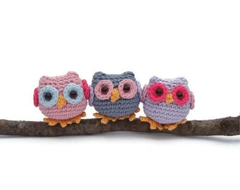 Crochet owl pattern pdf, tiny owl amigurumi crochet pattern