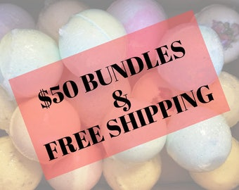 Bulk Bath Bombs | Made to order | Bath Fizzie | Party Favor Bath Bombs | Bridal Shower | Baby Shower | Birthday Party Favors | FREE SHIPPING