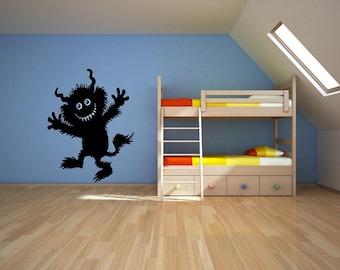 Furry Monster - Childrens - Vinyl Wall Art Decal