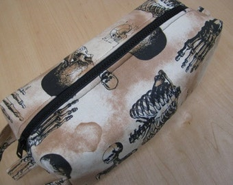 Gothic Foot Bones Anatomy Bones Cosmetic Bag Makeup Bag LARGE