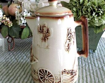 McCoy El Rancho Coffee Pot - Circa 1960's