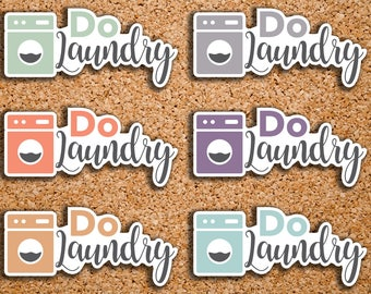 24 Do Laundry, Washing Machine, Laundry, Kids Chores Icon Planner Stickers for 2017 inkWELL Press Planners IWP-DC116