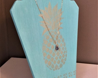 Golden Pineapple Necklace Display