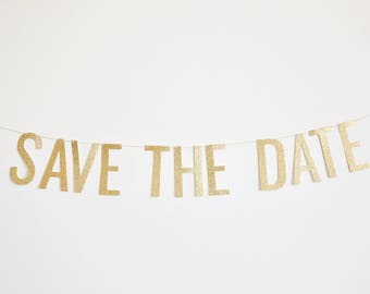 Save The Date Banner - Engagement Banner, Wedding Banner, Engagement Photo Props, Save the Date Photo Ideas