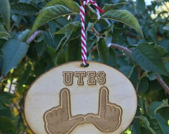 University of Utah Utes Christmas Tree Ornament