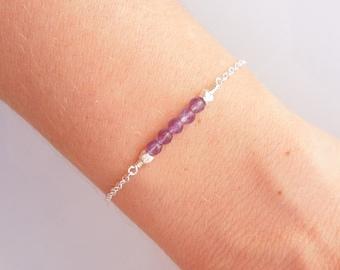 Amethyst Bracelet in Silver - Birthstone Jewelry