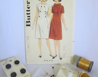 Vintage Pattern, Dress Pattern, Shift Dress, 70s Dress, Cowl Neck, A Line, Butterick 3176, Butterick, 70s, Costume, Sewing, Size 12
