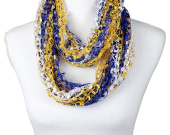 Golden State Warriors Color Royal Blue Gold White Confetti Scarf