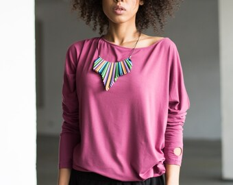 Fair Trade Blouse Be My Valentine Heather