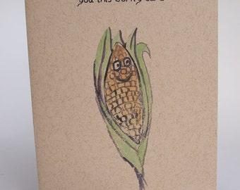 Greeting Card - Corny