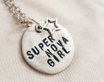 Xenon Inspired Super Nova Girl Protozoa Disney Channel Necklace