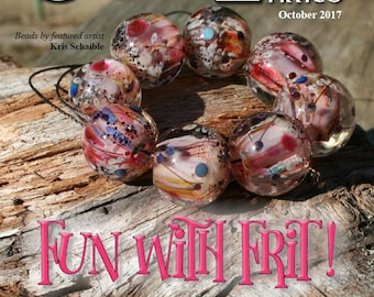Oct 2017 Soda Lime Times Lampworking Magazine - Fun with Frit - (PDF) - by Diane Woodall