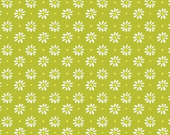 Lemon Squeezy - 1484-40 Daisy Lime - by Holly Helgeson from Contempo for Benartex