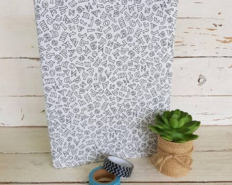 Composition Book Cover - ABC design - notebook cover - composition cover - Ready to ship no add ons excepted.