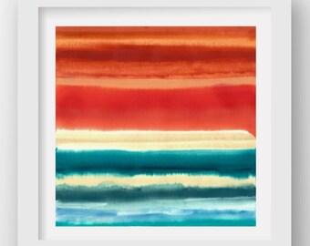 COLOR + RAIN MONDAY, limited edition giclee art print, rain art, abstract wall art, modern art print, coastal art
