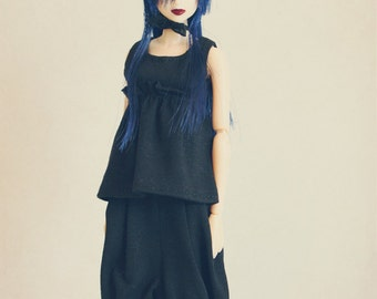 DISCOUNT 30% OFF jiajiadoll black set 2 Pieces for Momoko or Misaki ONLY