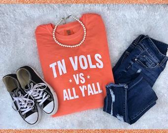 Tennessee Vols shirt, Tennessee tshirt, TN Vols, Tennessee Volunteers, Comfort Colors tshirt, Rocky Top