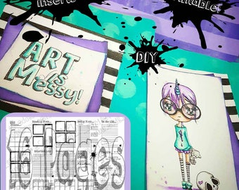 16 PAGES Download Instantly DIY Printable Creative Planner Inserts - 15 Pages +1 Bonus Page