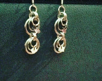 Hand made chainmail earrings