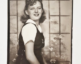Original Vintage Photobooth Photograph | Imogene | 1941