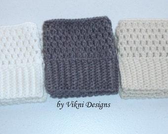 Crochet Boot Cuffs, Women Boot Socks by Vikni Designs