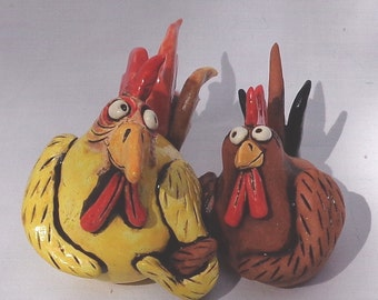 Arm In Arm Love Chickens handmade