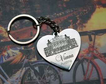 Keychain memory Travel Memory travel Memories Explore Кeychain Wedding Gift laser engraving Gif for couple Bridal Shower Gift Wedding