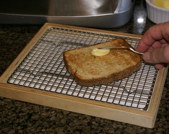 Toast Buttering Rack - Contain the crumbs and cleanup is a snap!
