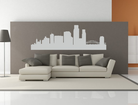 Corpus christi texas city skyline interior wall decal without