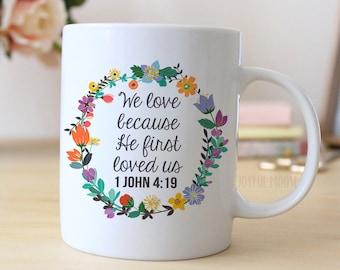 1 John 4 Coffee Mug - Christian Coffee Mug - Christian Gift