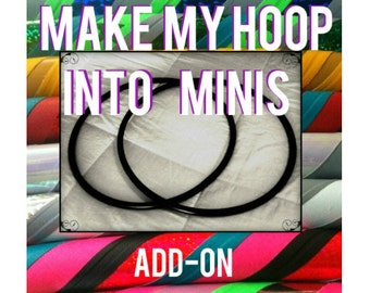 UPGRADE to Arm Hoops - Make your chosen design as poi mini hula hoops for DanceHoops Hula Hoops - Not Sold Separately