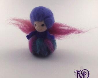 Needle Felt Wool Waldorf Fairy Godmother Angel