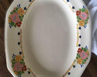 Vintage China Platter with a Mod Look