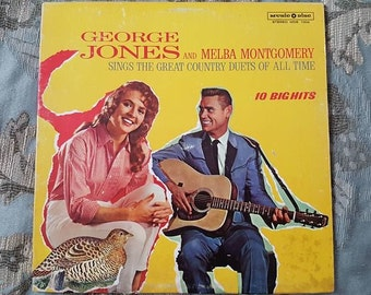 George Jones and Melba Montgomery Sings The Great Country Duets of all Time 10 Big Hits Vinyl Record Album by Music Disc 1969