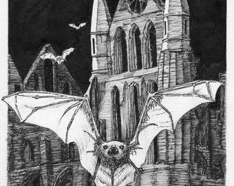 Hand-Crafted Greetings Card 'Guardians of the Abbey'