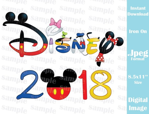 INSTANT DOWNLOAD DIY Disney Family Vacation 2018 Inspired