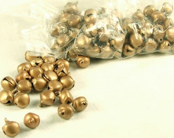10 mm Bell Charms 100 pieces 10mm Copper Brown Color Steel Jewelry Craft Supply Bells