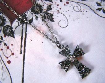 Gunmetal Filigree Cross