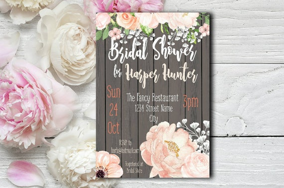 Blush Bridal Shower Invitation