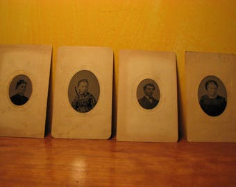 4 Antique tintype Photographs(1)