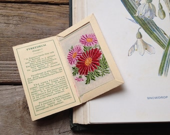 1930s Vintage Botanical Art - Vintage Embroidery Art - Collectable art cigarette cards - botanical Print
