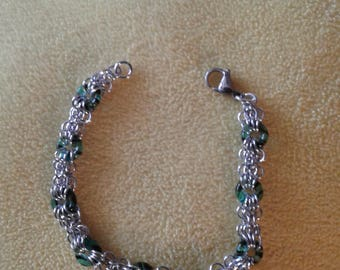 Butterfly chain Maille bracelet
